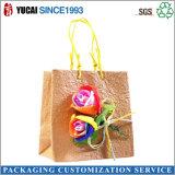 Rose Kraft bolsa de papel bolsa de regalo con la manija Twisted