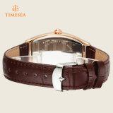 Relógio quadrado, relógio suíço 70032 do esporte do movimento da faixa de couro