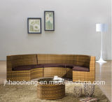 Mobilia esterna di vimini stabilita del rattan della mobilia sintetica del rattan del giardino