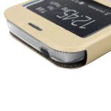 携帯電話のための卸し売り電話アクセサリPU磁気フリップ移動式ケースかカバー
