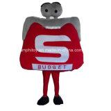 Costume differente personalizzato della mascotte del carattere della casella di figura per usura