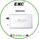 Подгонянная батарея высокого качества 105283 3.7V 5000mAh Lipo для GPS