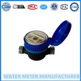 Tipo seco medidor do seletor do Único-Jato de água no corpo plástico preto