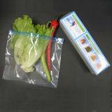 Sacchetto di plastica di plastica del commestibile con il cursore