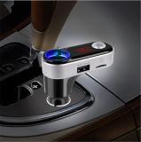 Lecteur MP3 mains libres de véhicule de Bluetooth émetteur FM avec les chargeurs duels 5V/2.1A de véhicule d'USB et l'allumeur supplémentaire de cigarette de véhicule (BC09B)