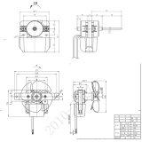 el Bbq del refrigerador del calentador la monofásico 3000-4000rpm trabaja a máquina el motor de ventilador