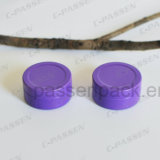 Piccola latta di alluminio rotonda con il coperchio di slittamento (colore viola)
