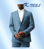 고품질 밝은 파란색 남자는 적당한 형식적인 정장을 체중을 줄인다