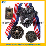 Medalha do evento desportivo com cor diferente