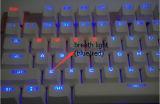 La ergonomía del estilo del teclado USB con cable mecánico con retroiluminación LED