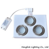 1.6W beleuchten runder vertiefter innerer Möbel-Schrank LED der Lampen-LED unten