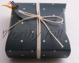 Estrella impresa del rectángulo de regalo, caja de embalaje de la galleta