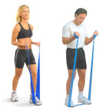 Soem-versieht kundenspezifische Übungs-Widerstand-Bänder für Yoga-Eignung /Pilates mit einem Band