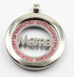 Alta calidad 316L Surgical Stainless Steel Locket Pendant con Mama Coin Inside