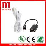 Женщина кабеля 2.0 USB USB OTG микро- к USB Micro5p