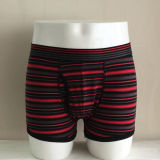 Yard Dyeing Striped Nylon Seda Belt Fashion Men Boxer Brief