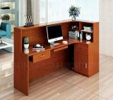 Черной стол приема счетчика офиса мебели цвета используемый конструкцией (SZ-RTB003-2)