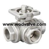 Шариковый клапан 3 дорог с или без замка (ISO5211)
