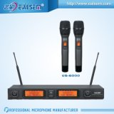 Dubbel VHF Audio Draadloze LCD KTV microfoon-Handholder/Klem/Hoofdtelefoon