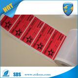 De Leegte van de garantie indien de Verwijderde Druk van de Sticker van de Garantie van het Etiket/niet van de Overdracht