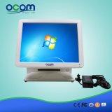 """(POS8618) """" visualización dual toda del LCD del monitor de la pantalla táctil de la pantalla 15 en una terminal de la posición de la PC"""