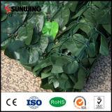 Cerca plástica falsificada barata ao ar livre da folha da planta do PVC para a decoração do jardim