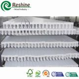 밀어내는 백색 페인트 PVC 셔터 분대