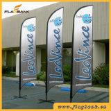 bandierina della piuma di stampa di 4.5m doppie/bandiera laterali di alluminio esterne di volo