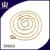 De eenvoudige Gouden Meisjes van Ontwerpen ketenen Zilveren Halsband