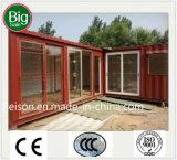 Casa de café móvel portátil/barra pré-fabricadas do baixo lucro/Prefab