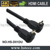 HDMI горячего сбывания прямоугольных/90 кабель степени микро- для сбывания