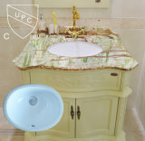 Cupc Porcelain Oval Under Mount Sink para o Canadá (SN001)