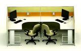 Estação de trabalho de alumínio da divisória do escritório moderno para 2 pessoas (HF-YZ031)