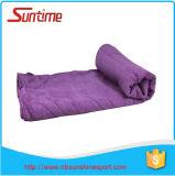Serviette promotionnelle de yoga de Microfiber, serviette antidérapage de natte de yoga dans la main molle