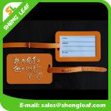 Cartton forma de rectángulo de goma de PVC etiqueta del equipaje (SLF-LT057)