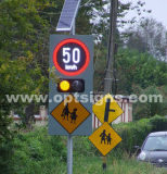 Signes portatifs de vitesse limite de circulation de signe de vitesse de radar d'énergie solaire