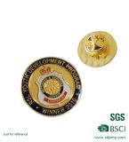Pin macio do Lapel do esmalte do logotipo da abelha do ouro do metal
