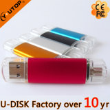 4-128GB het Embleem van de Douane sluit Smartphone OTG USB Pendrive (yt-1201-03L) af