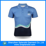 Men를 위한 형식 Polyester Sublimation Color Combination Polo Shirt