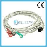 Cable paciente de la serie de una sola pieza galesa ECG de Allyn con los Leadwires