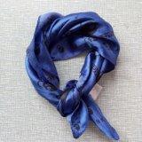 زرقاء بوليستر أطلس جمجمة صغيرة مربّع مضافة وشاح