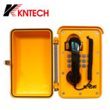 Black Curl Cable Téléphone résistant aux températures élevées Téléphone industriel Téléphone anti-poussière Téléphone Wall-Mount Knsp-01t2j