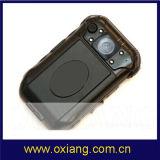 小型警察の身につけられるズームレンズのカメラDVRサポート二重カメラ