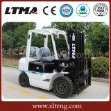 Chariot élévateur neuf hydraulique de LPG d'essence de 2.5 tonnes avec la fourche de chariot élévateur
