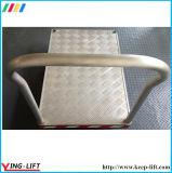 Trole de alumínio resistente CF3672 da mão da plataforma da roda de borracha