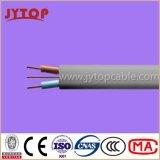 Doble plana con cable de tierra, 6242y BS6004 alambre de cobre, aislamiento de PVC, cables planos con el conductor de cobre