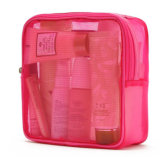 Sac cosmétique de lavage de maille de Madame Fashion Promotional Pink Nylon (YKY7523)