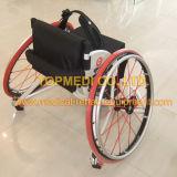 El manual al aire libre de aluminio de Topmedi se divierte el sillón de ruedas del baloncesto