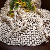 Telas del cordón de Chemicle del poliester del telar jacquar para la ropa
