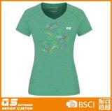 T-shirt convenable de sports de la mode des femmes
